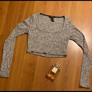 Knit Crop Top (Long Sleeve)